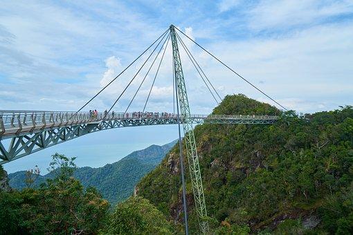 Bridge, Rope, Architecture, Steel, Structure, High