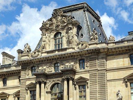 Paris, The Louvre, The Caryatids, Statues, Pavilion