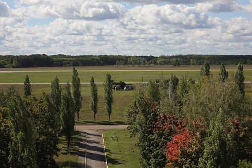Airfield, Military Airfield, Vzletnaya Polosa, Summer
