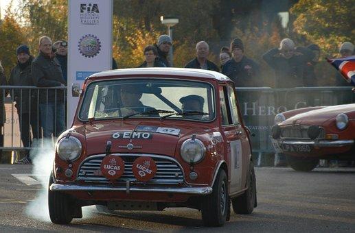 Mini, Car, Rally, Vehicle, Transportation, Transport