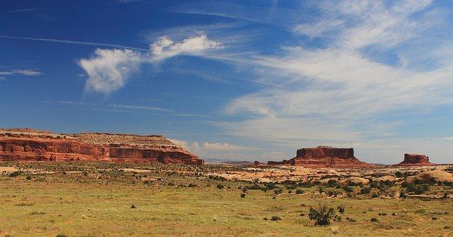 Canyon Lands, Utah, Usa, National, Park, Formation