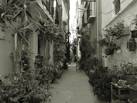 Alicante, Villajoyosa, Street, Alley