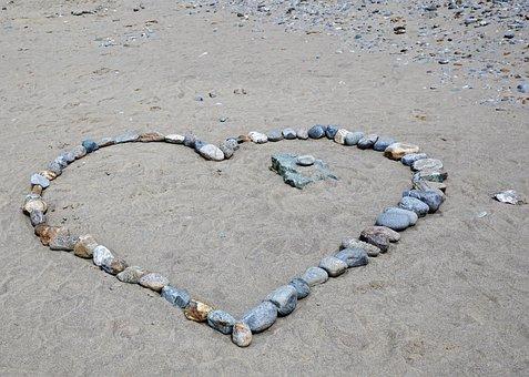 Heart, Stone, Love, Sand, Feelings, Wedding, Travel