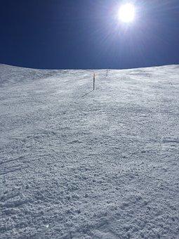 Switzerland, Sedrun, Ski Run, Snow, White, Blue, Winter