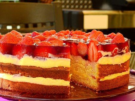 Cake, Strawberry Cake, Strawberry Pie, Delicious