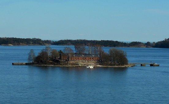 Island, Sea, Archipelago, Helsinki, Calm, One, Seascape