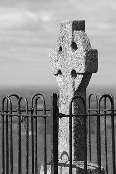 Hill Of Tara, Ireland, Cross, Christianity, Celtic