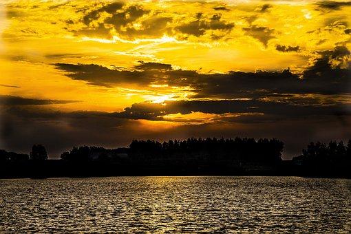 Sun, Water, Ocean, Equinox, Nature, Sky, Gold, Sea
