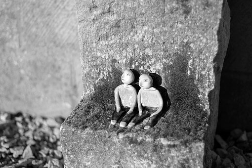 Sculpture, Mini, Pair, Couple, Happy, Love, Sound, Sun