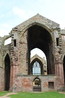 Melrose Abbey, Historical, Scotland, Ruin
