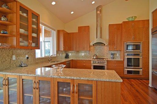 Fridge, Stove, Kitchen, Oven, House, Interior, Design