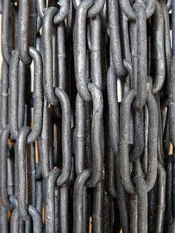 Chain, Metal, Iron, Links Of The Chain, Iron Chain