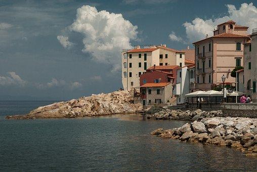 Italy, Island Of Elba, Méditerrannée, Port