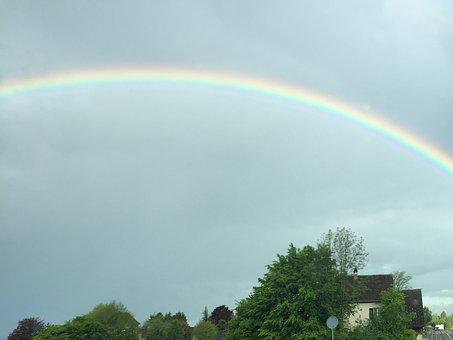 Rainbow, Lake Zurich, Beautiful, Color, Colorful