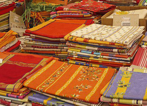 Market, Farmers Local Market, Textile Stand, Bed Linen