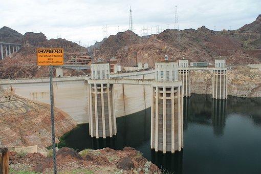 Hoover Dam, Las Vegas, Dam, Hoover, Nevada, Water, Lake