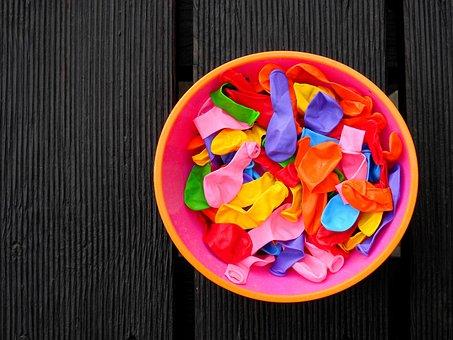 Ballons, Balloons, Water Balloons, Children, Play, Toys