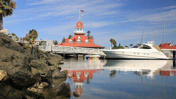 San Diego, Coronado Island, Boat, Spring