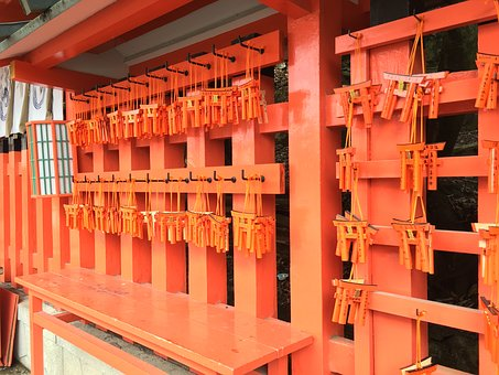 Japan, Temple, Shrine, Shinto, Red