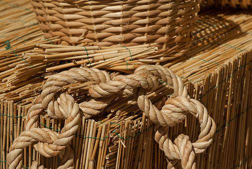 Straw, Wicker, Braid, Rope, Basket