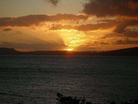 Sunset, Hawaii, Portlock, China Walls