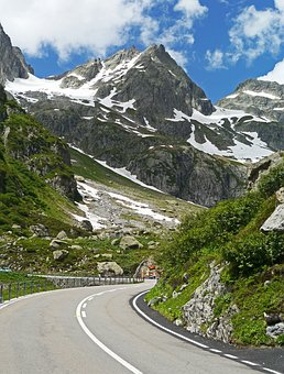 Switzerland, Susten Pass, Pass Road, Bend Upward