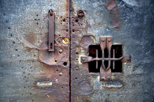 Door, Lock, Old, Bolt, Rusty, Oxide, Texture, Veneer