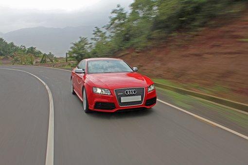Audi, Car, Motion, Action, Transportation, Driving