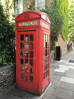 Phone Booth, Uk, England, Red, Phone, Classic