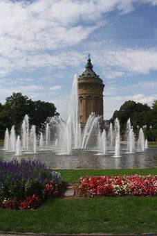 Luise Garden, Mannheim, Water Art, Water Games