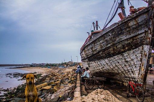 Boat, Beach, Wreck, Sea, Travel, Ocean, Water, Ship