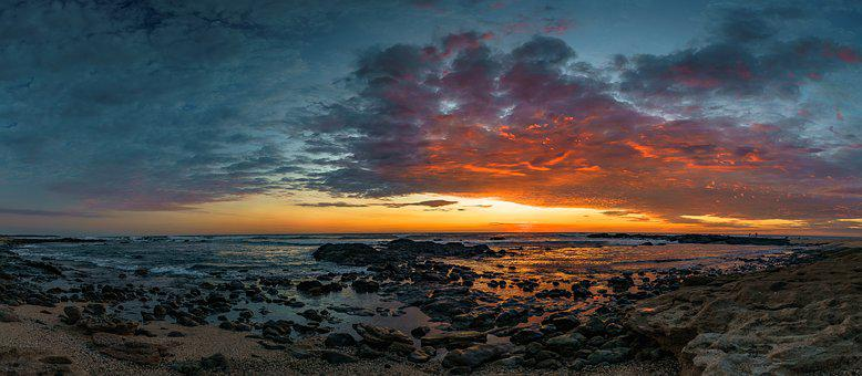 Sunset, Tropical, Costa Rica, Travel, Ocean, Beach