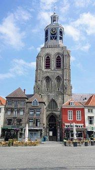 Church, Netherlands, Bergen Op Zoom, Religion, Tower
