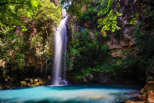 Water Fall, Blue Water, Nature, Water, Blue, Fall