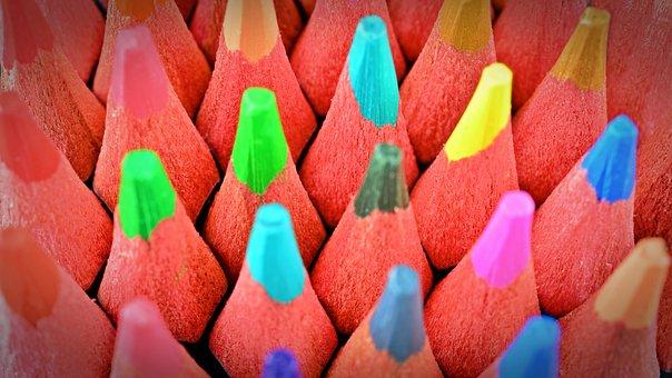 Colored Pencils, Pens, Color, Colorful, Paint