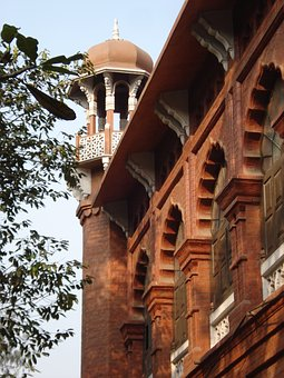 Front Of Curzon Hall, Dhaka, British Raj-era Building