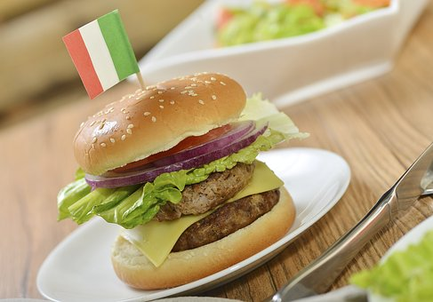 Food Photography, Double Beef Burger, Italy, Hamburg