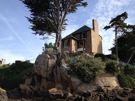 Ile-de-brehat, House, Rock