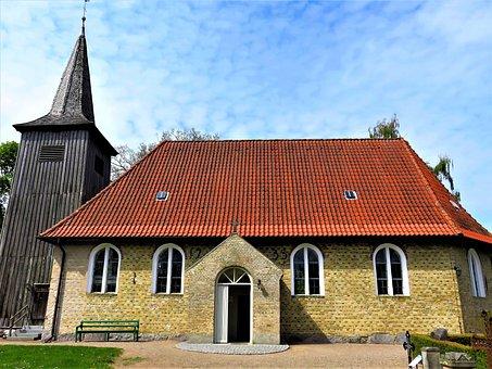 Church, Old Ship Church, Built In 1673, In Arnis