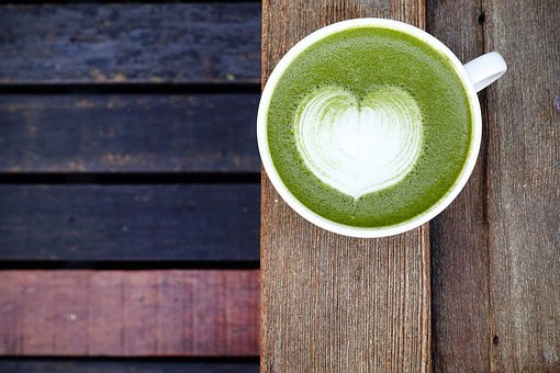Matcha Powder, Latte, Green, Japanese, Hot, Milk