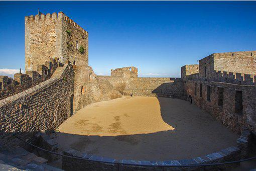 Castle, Arena, Monsaraz Castle, Portugal