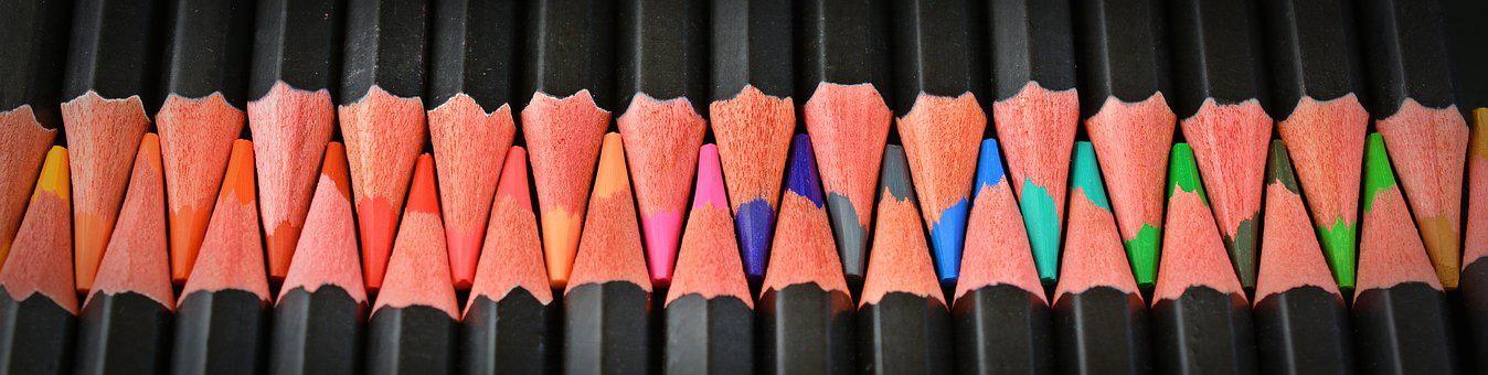 Colored Pencils, Pens, Color, Tooth, Colorful, Paint