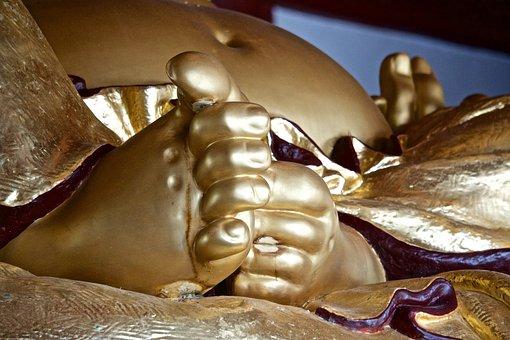 Buddha, Toes, Spiritual, Buddhist, Golden, Reclining