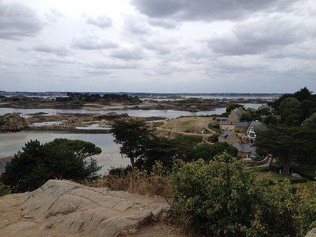 Ile-de-brehat, Panorama, Rocks