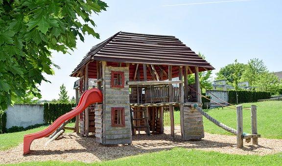 Playground, Playing Surface, Slide, Fun Activity