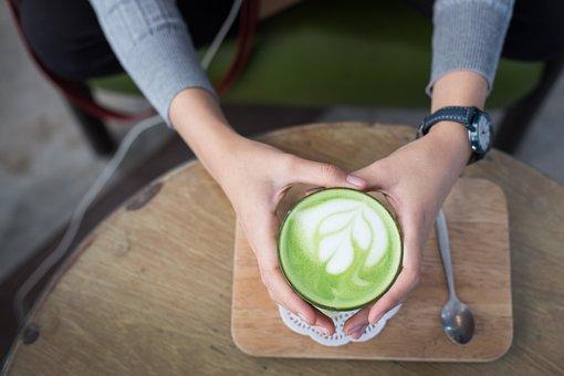 Matcha Latte, Hot, Matcha, Beverage, Tea, Cup, Green