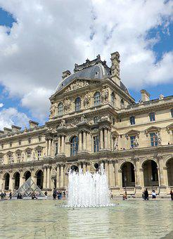 Paris, The Louvre, Pavilion, Water Plan, Mirror
