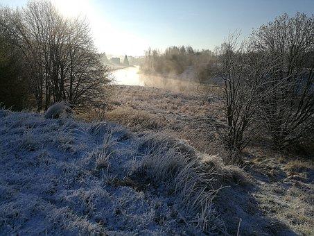 Aura River, Spring, Snow