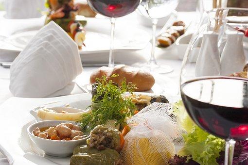 Food, Wine, Breakfast, Greens, A Toast