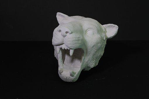 Figurine, View, Cat, Wild Cat, Predator, Closeup
